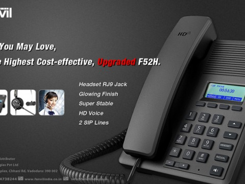 Upgraded F52H IP Phone with RJ9 Headset Jack
